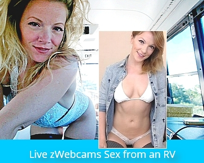 Live webcam sex from an RV with Sky Smith.